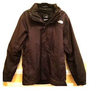 The North Face 3 in 1 Anke Black Jacket (no hood)